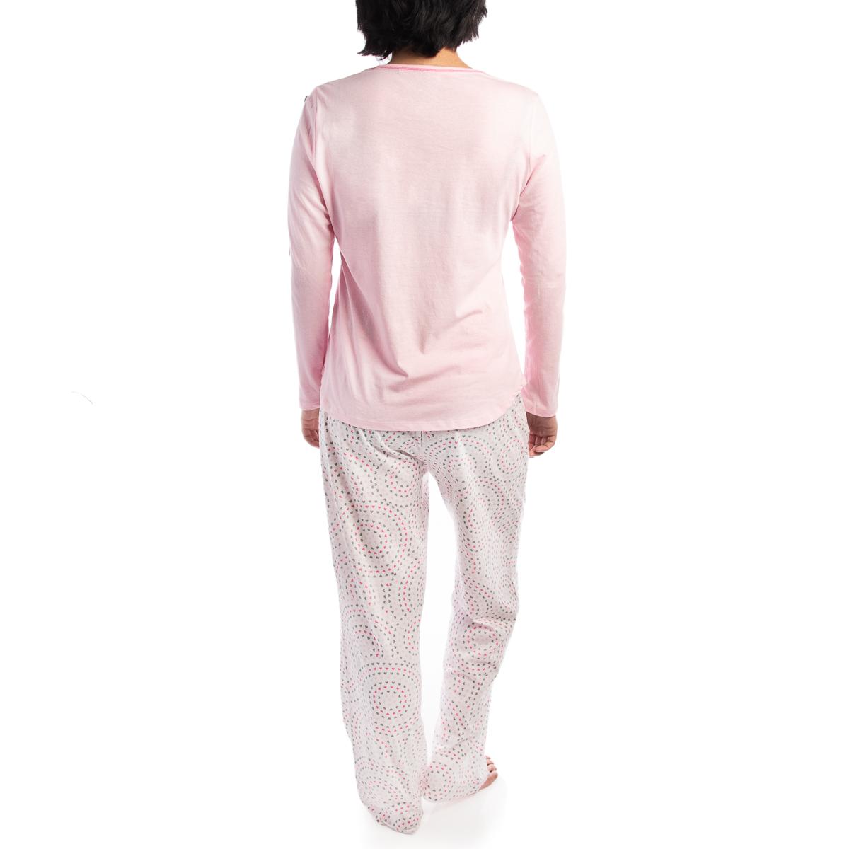 2-Piece-Jockey-Cotton-Pajamas-For-Women-Set-Long-Sleeve-Top-Bottom-PJs-Sleepwear thumbnail 12