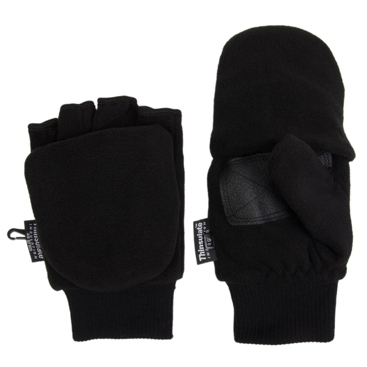 The Manzella Men's Cascade Convertible Fleece Gloves are a heavyweight fleece convertible mitten/glove with flip-mitt versatility for easy use with touch screen devices. Thinsulate insulation and a micro-fleece composition provide cozy warmth.