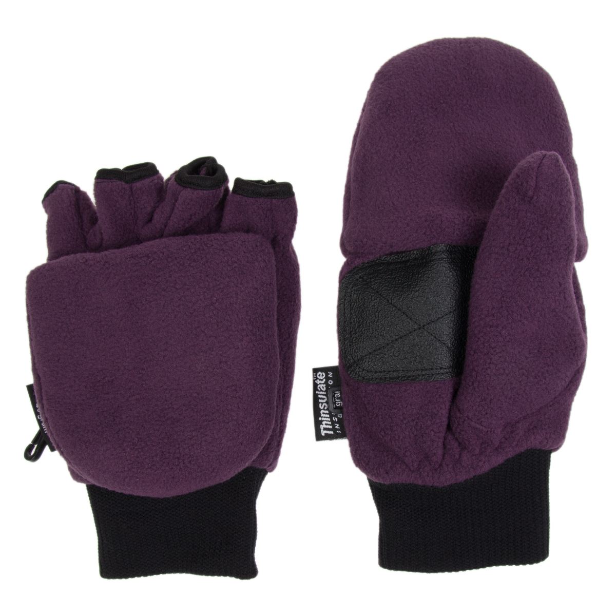 3M Thinsulate fleece convertible pop tops are the best of both mitten and glove worlds. They combine the coziness of mittens with the dexterity of gloves, allowing fingers to pop out and grab those keys, or use a smartphone quickly with ease.