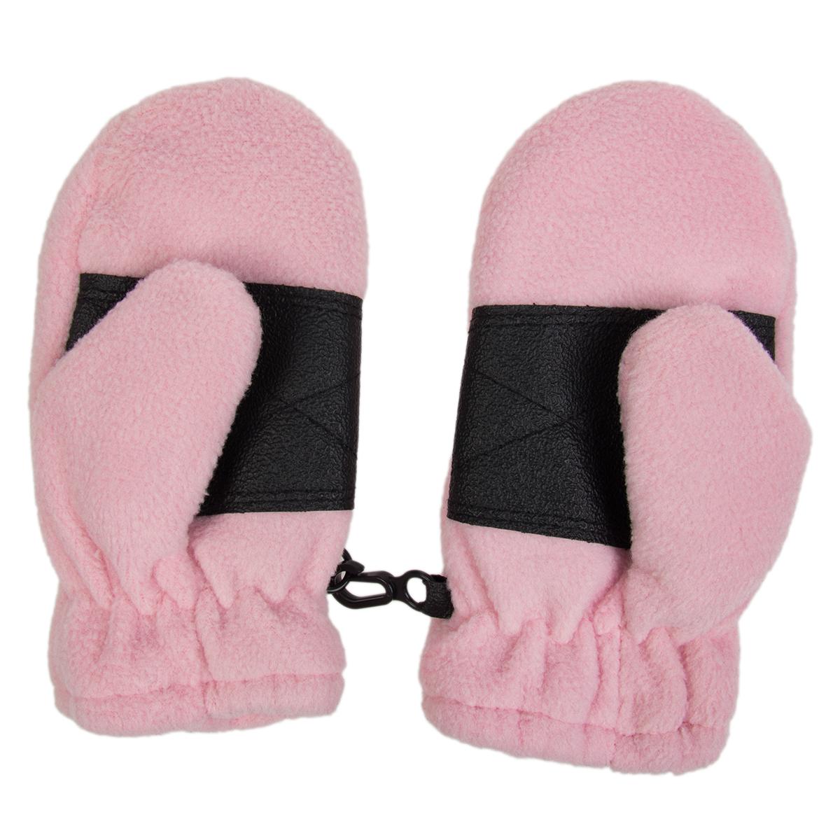 Toddler Fleece Insulated Mittens Boys Girls Clips Palm
