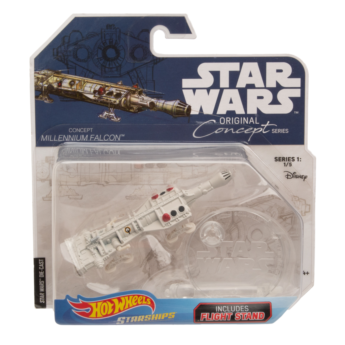 Hot-Wheels-Disney-Star-Wars-Original-Concept-Starships-Diecast-Model-Toys-Stands thumbnail 15