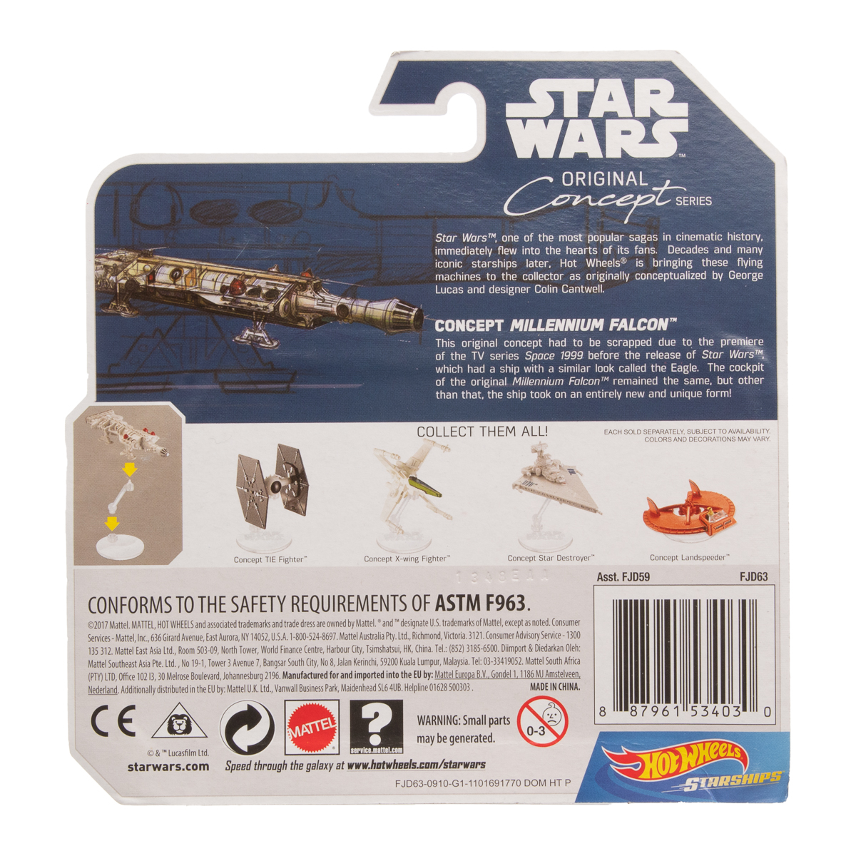Hot-Wheels-Disney-Star-Wars-Original-Concept-Starships-Diecast-Model-Toys-Stands thumbnail 16