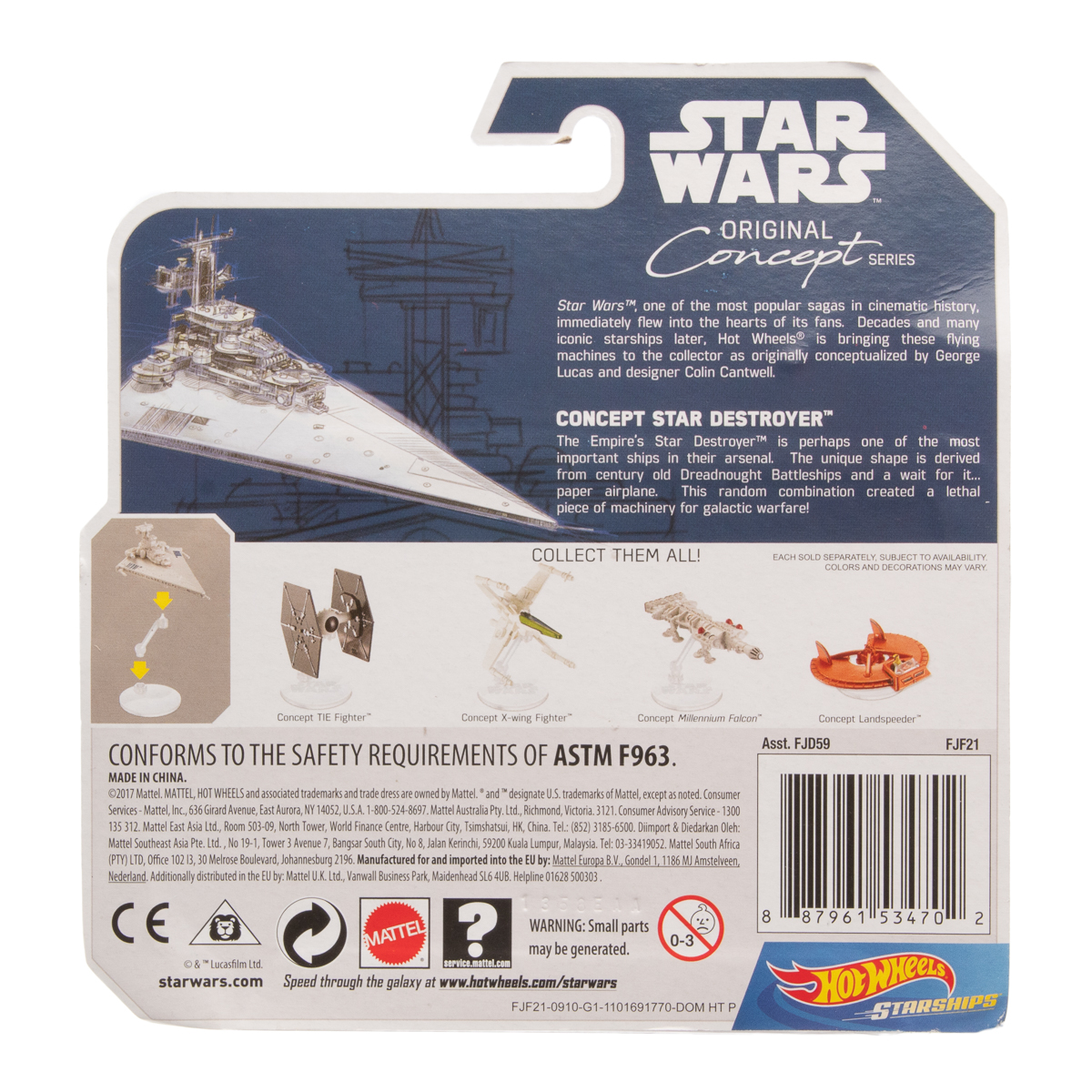 Hot-Wheels-Disney-Star-Wars-Original-Concept-Starships-Diecast-Model-Toys-Stands thumbnail 20
