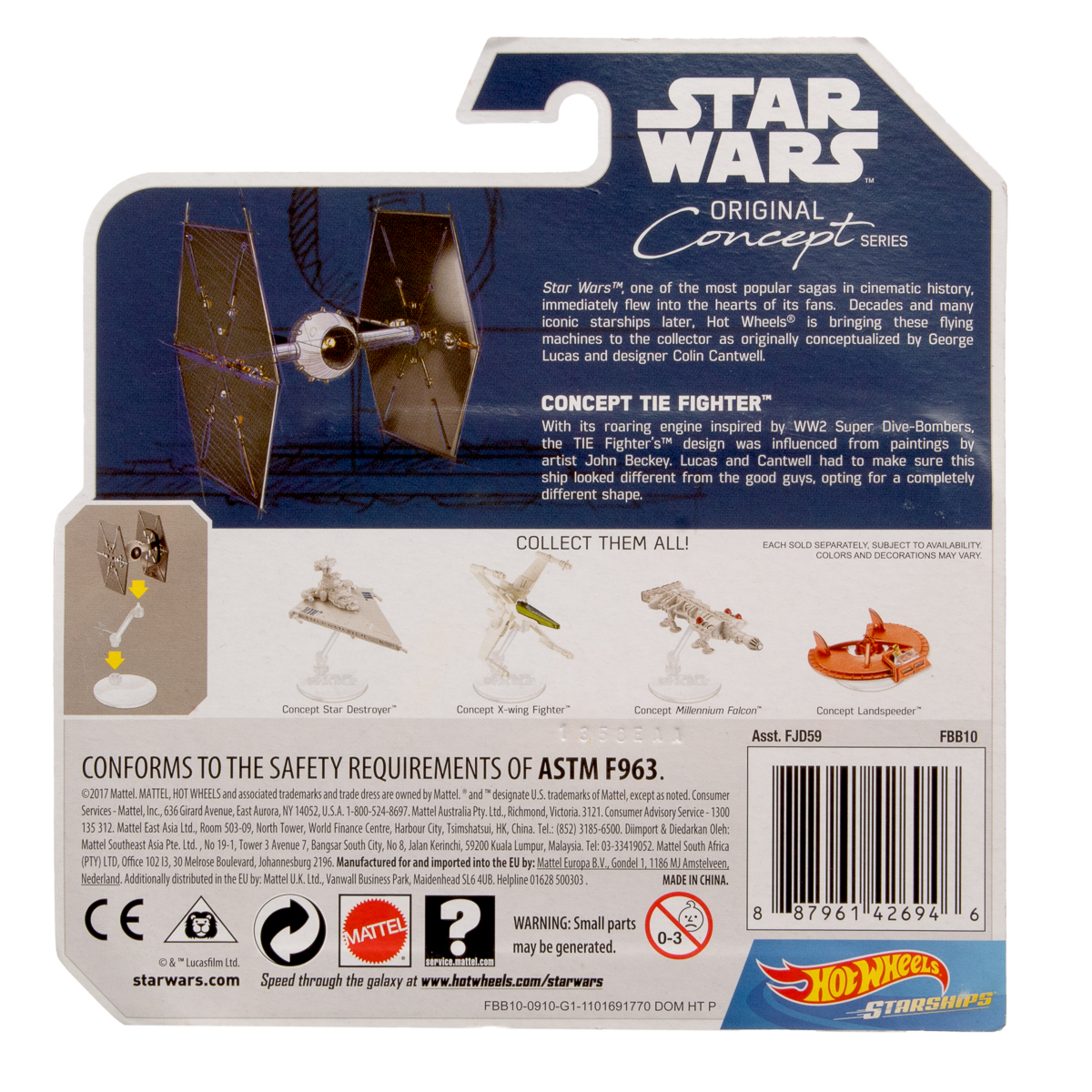Hot-Wheels-Disney-Star-Wars-Original-Concept-Starships-Diecast-Model-Toys-Stands thumbnail 24
