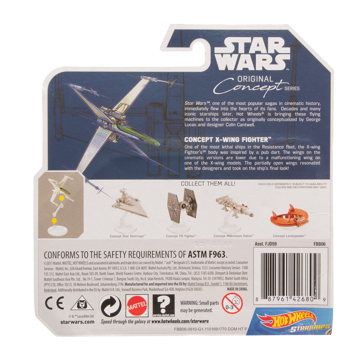 Hot-Wheels-Disney-Star-Wars-Original-Concept-Starships-Diecast-Model-Toys-Stands thumbnail 28