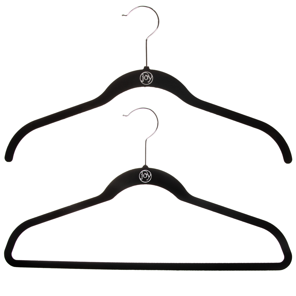 40ct-Joy-Mangano-Huggable-Clothes-Coat-Hangers-Non-Slip-Felt-Black-Space-Saving thumbnail 11