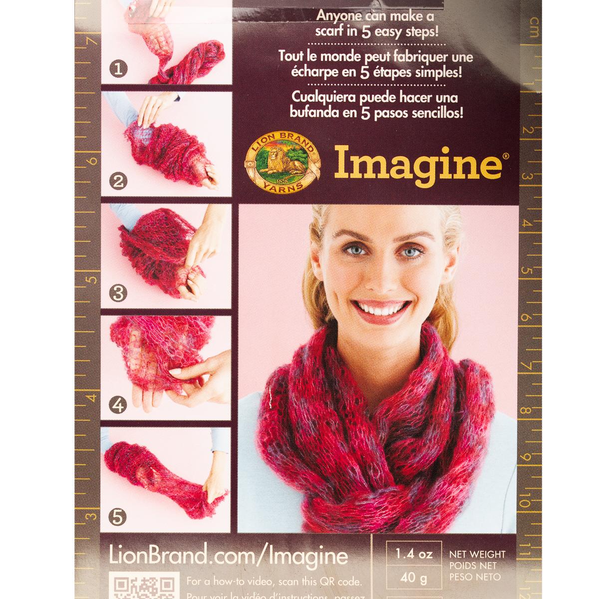 thumbnail 16 - 3pk-Lion-Brand-Imagine-Acrylic-Blend-Yarn-Super-Bulky-6-Knitting-Crochet-Soft