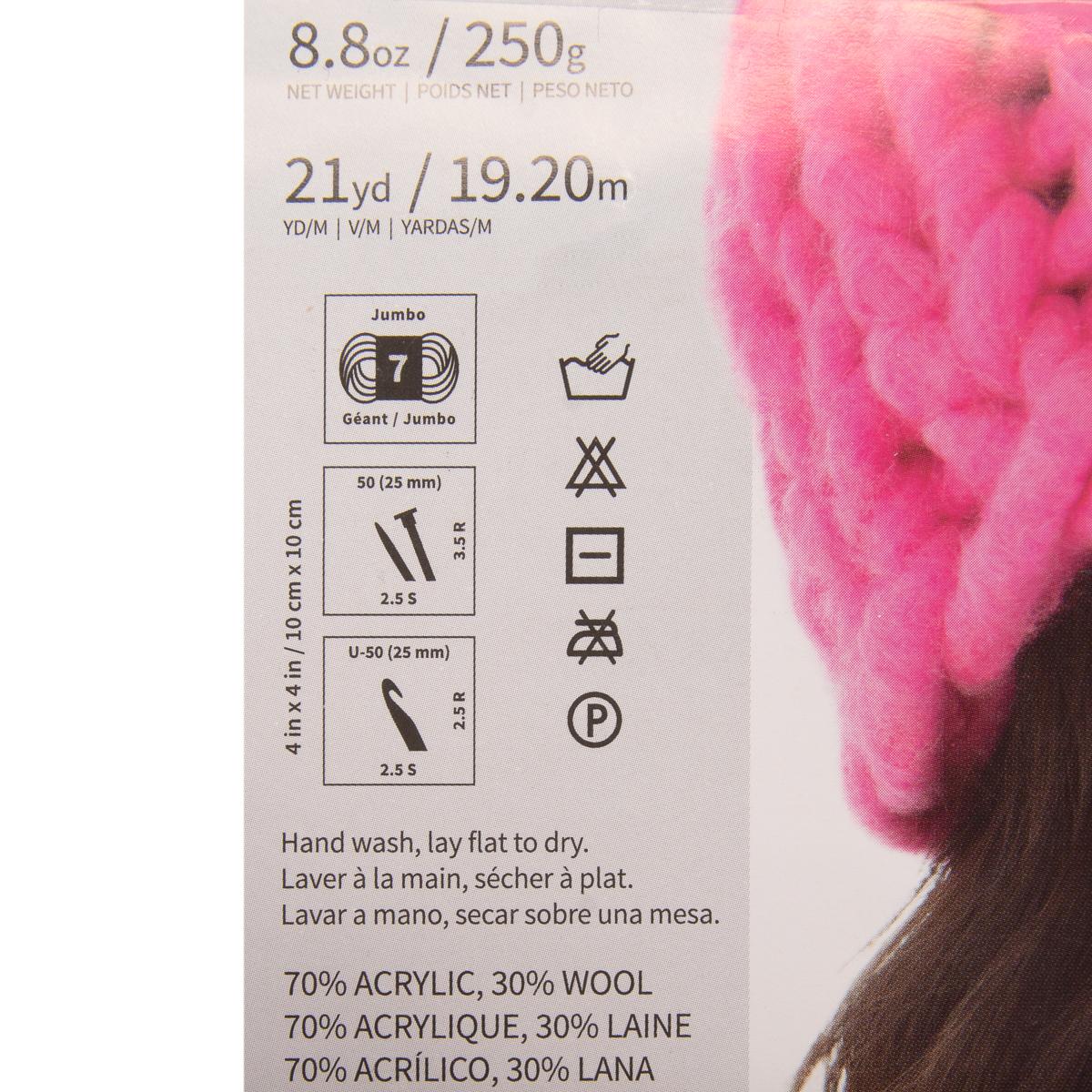 3pk-Lion-Brand-Wow-Acrylic-amp-Wool-yarn-Jumbo-7-Knitting-Crocheting-Skeins-Soft thumbnail 14