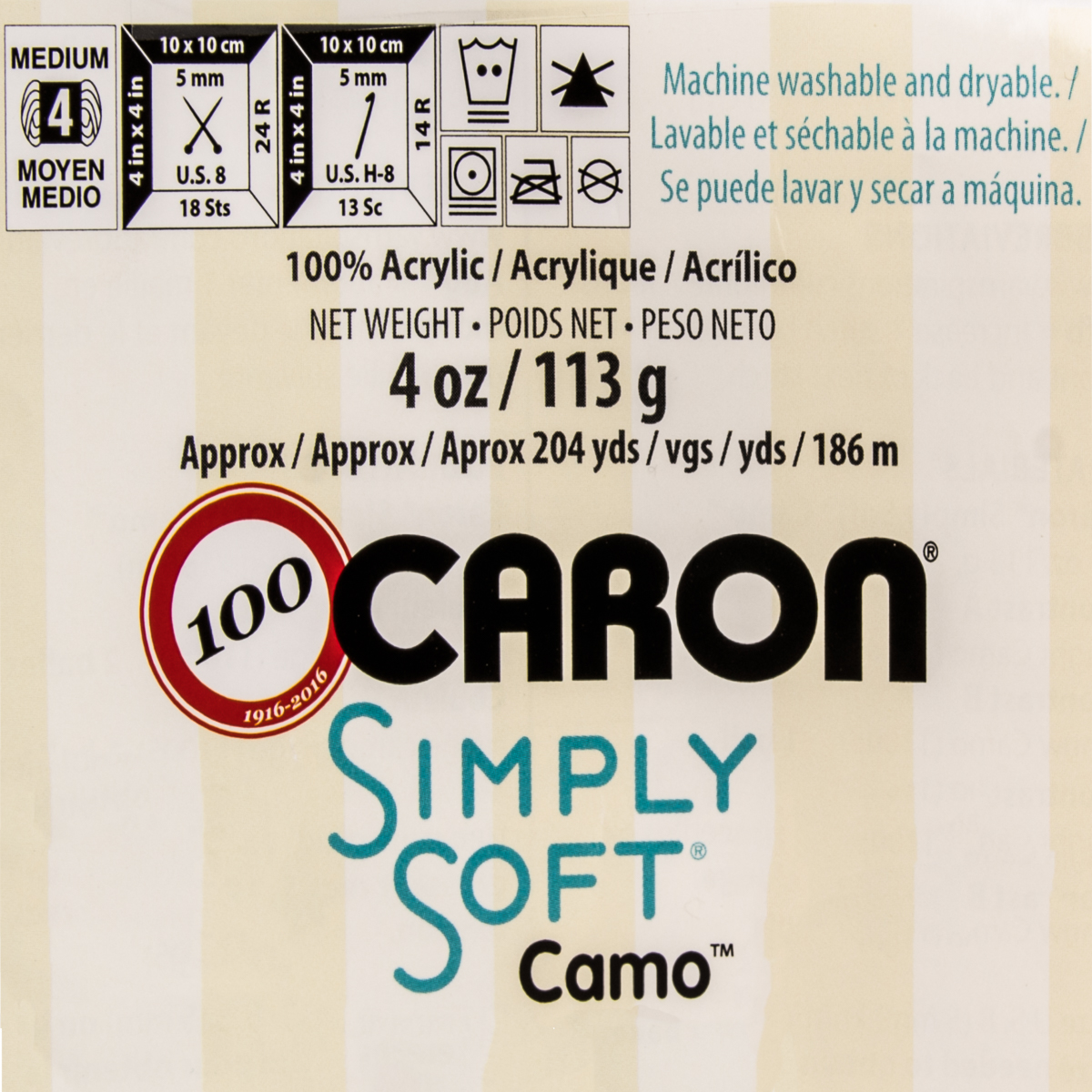 3pk-Caron-Simply-Soft-Camo-100-Acrylic-Yarn-Medium-4-Knit-Crochet-Skeins-Soft thumbnail 14