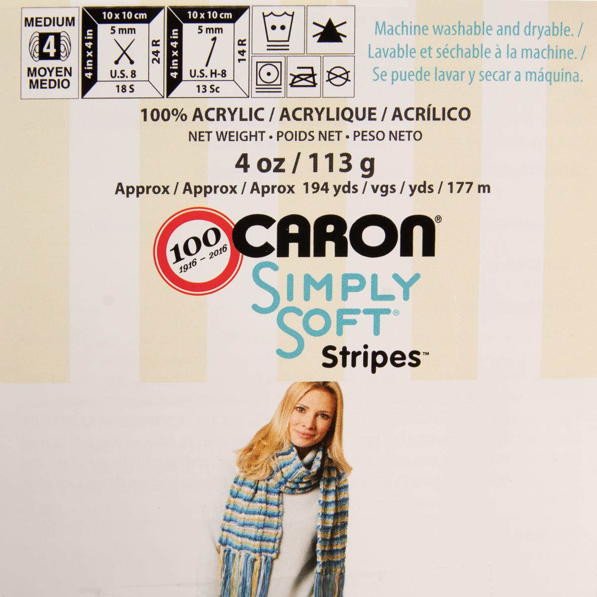 3pk-Caron-Simply-Soft-Stripes-100-Acrylic-Yarn-Medium-4-Knit-Crocheting-Skeins thumbnail 11