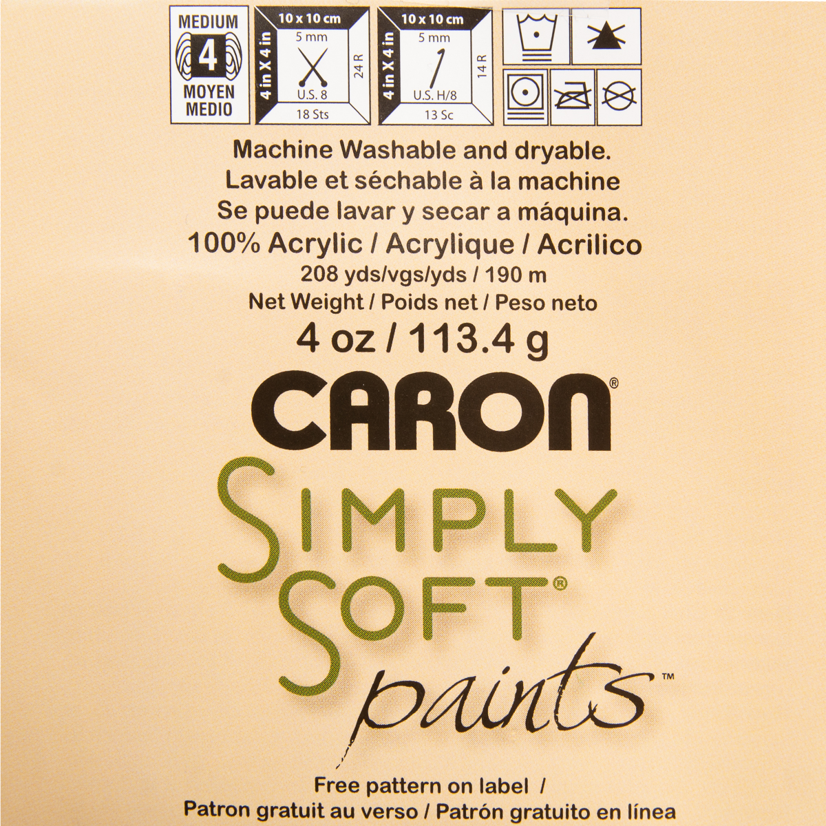 3pk-Caron-Simply-Soft-Paints-100-Acrylic-Yarn-Medium-4-Knit-Crochet-Skein-Soft thumbnail 20