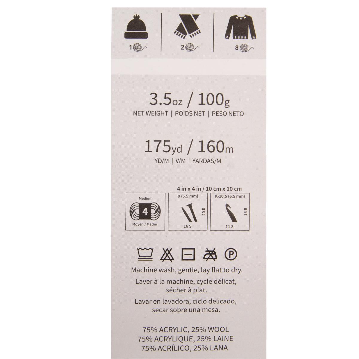 3pk-Lion-Brand-New-Basic-Acrylic-amp-Wool-Yarn-Medium-4-Knit-Crochet-Skeins-Soft thumbnail 16