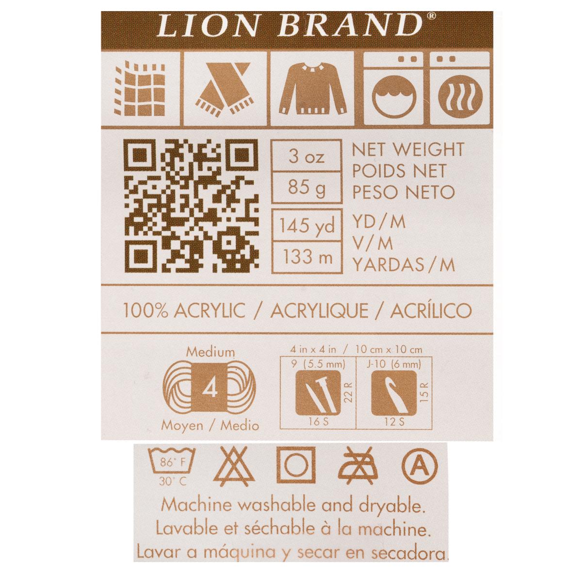 3pk-Lion-Brand-Vanna-s-Choice-100-Acrylic-Yarn-Medium-4-Knitting-Skeins-Soft thumbnail 17