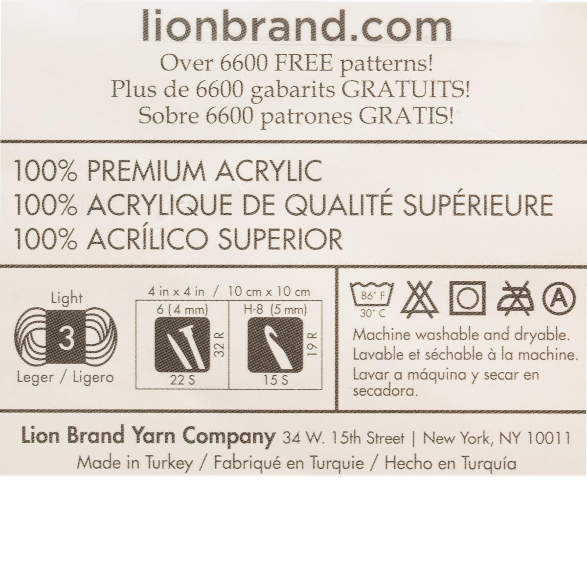 3pk-Lion-Brand-Vanna-039-s-Style-100-Acrylic-Yarn-Light-3-Knit-Crochet-Skeins-Soft thumbnail 14