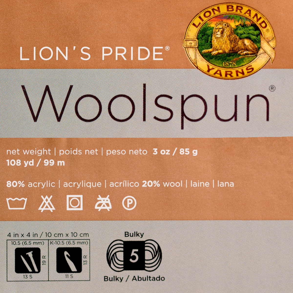 3pk-Lion-Brand-Woolspun-Acrylic-amp-Wool-Yarn-Bulky-5-Knit-Crocheting-Skeins-Soft thumbnail 24