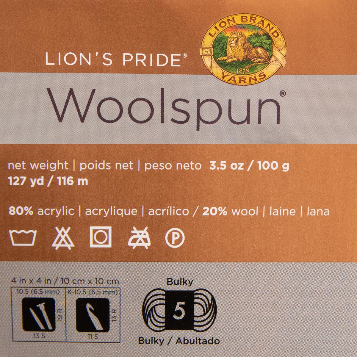 3pk-Lion-Brand-Woolspun-Acrylic-amp-Wool-Yarn-Bulky-5-Knit-Crocheting-Skeins-Soft thumbnail 16