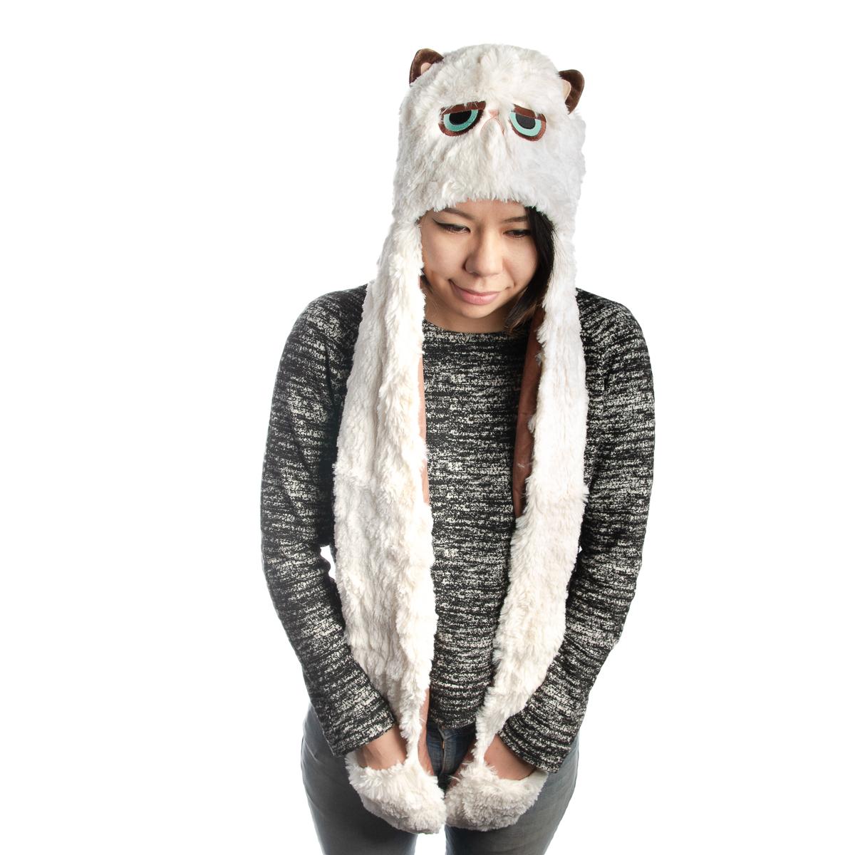 a090000a292 Gund Official Grumpy Cat Scarf Hat Mittens Plush Animal Neck Warmer  Accessories