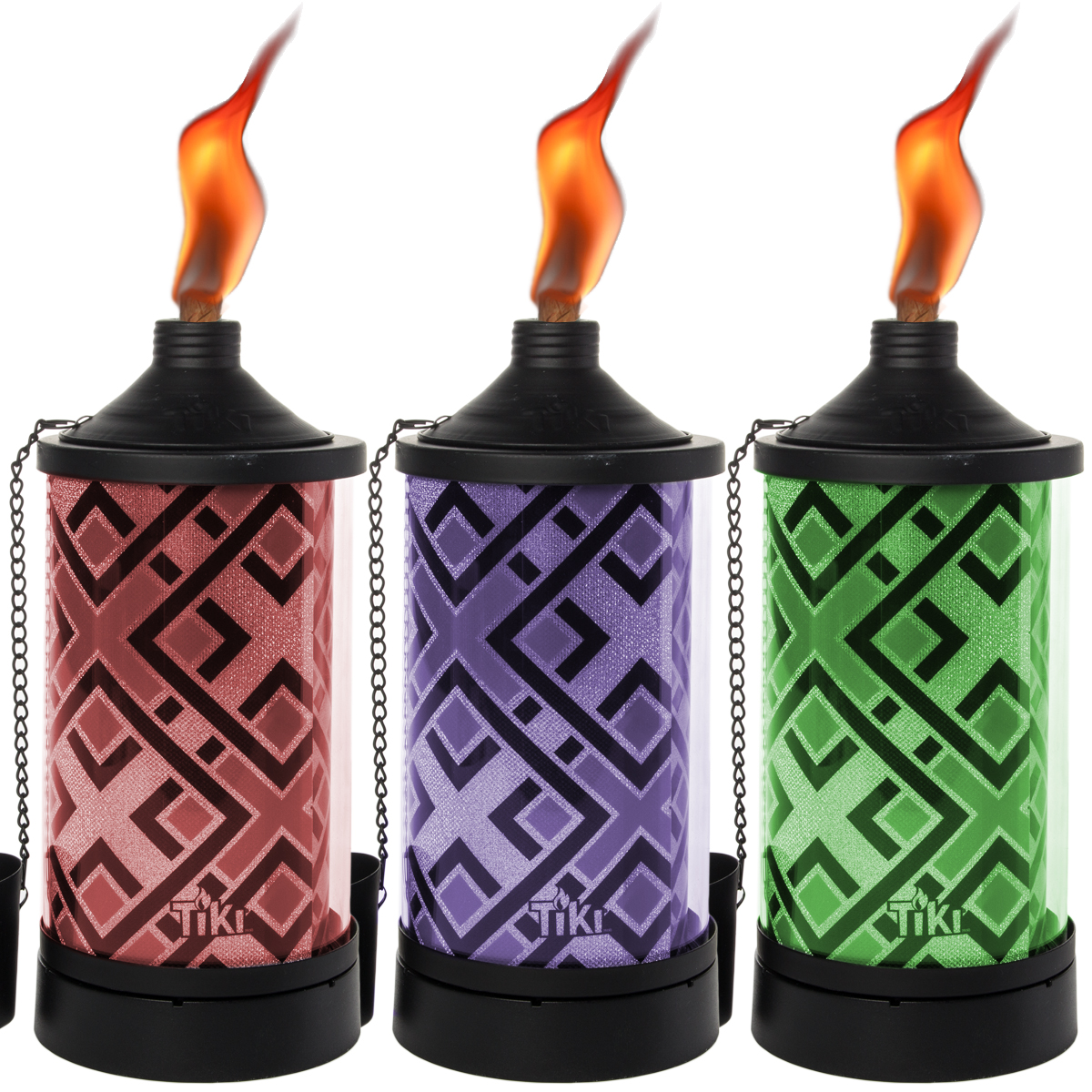 3 Pack TIKI Brand Tabletop Torches Color Changing