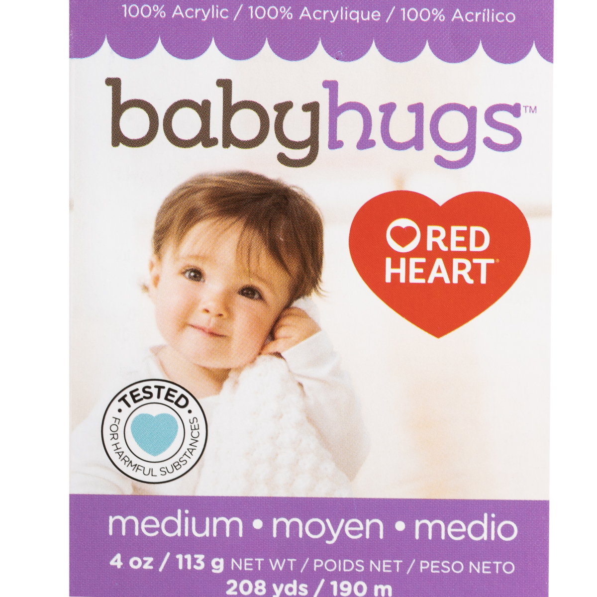 Red-Heart-Baby-Hugs-100-Acrylic-Yarn-Medium-4-Knitting-Crocheting-Skein-Soft thumbnail 21