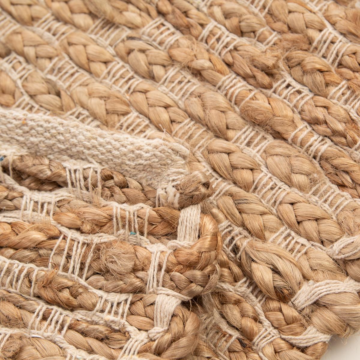 Jute Cotton Blend Rug 2x3 Natural Hand Woven Home D 233 Cor