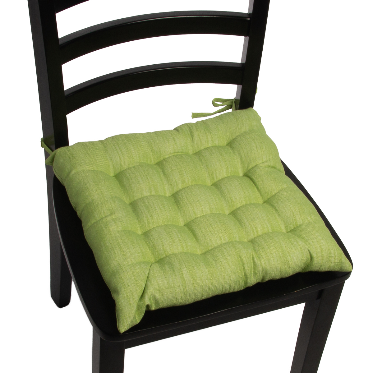 4pk dream home chair pads square tufted cushion seat cushions pillows with ties ebay. Black Bedroom Furniture Sets. Home Design Ideas