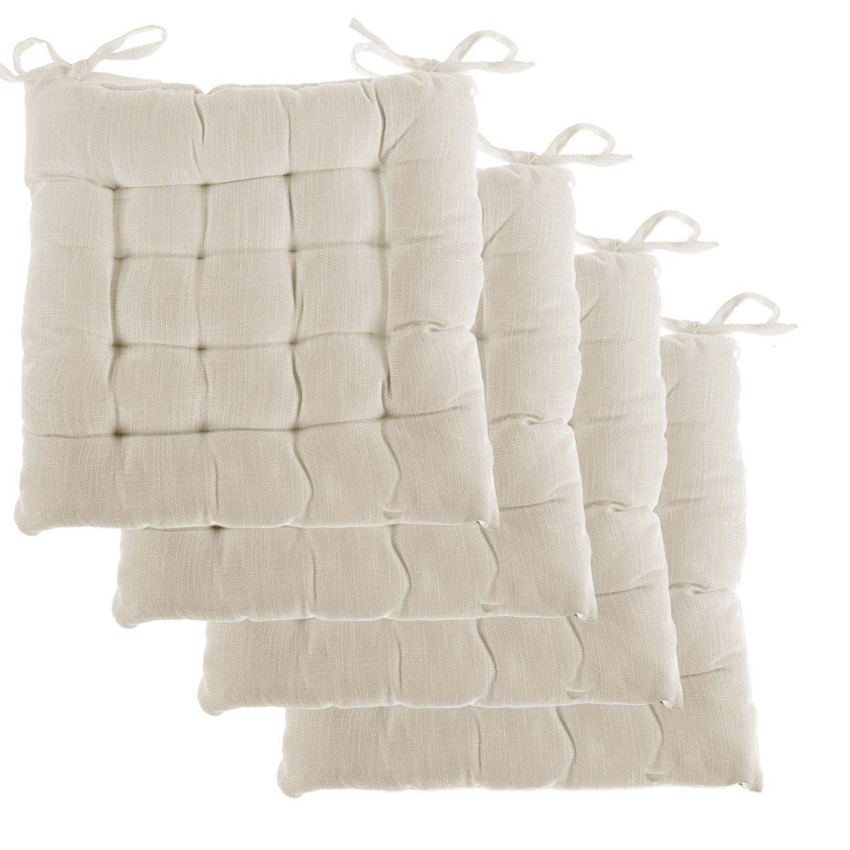 Chair Pillows #33 - 4pk-Dream-Home-Chair-Pads-Square-Tufted-Cushion-