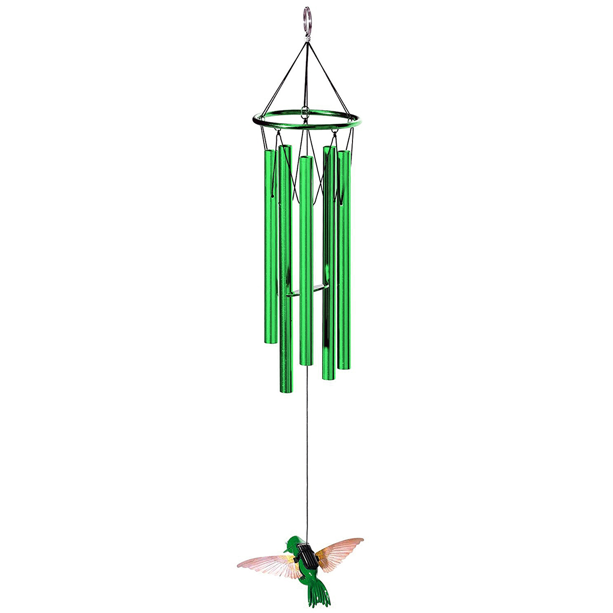 Small Hanging Solar Animal Outdoor Musical Wind Chime Metal Tubes ...