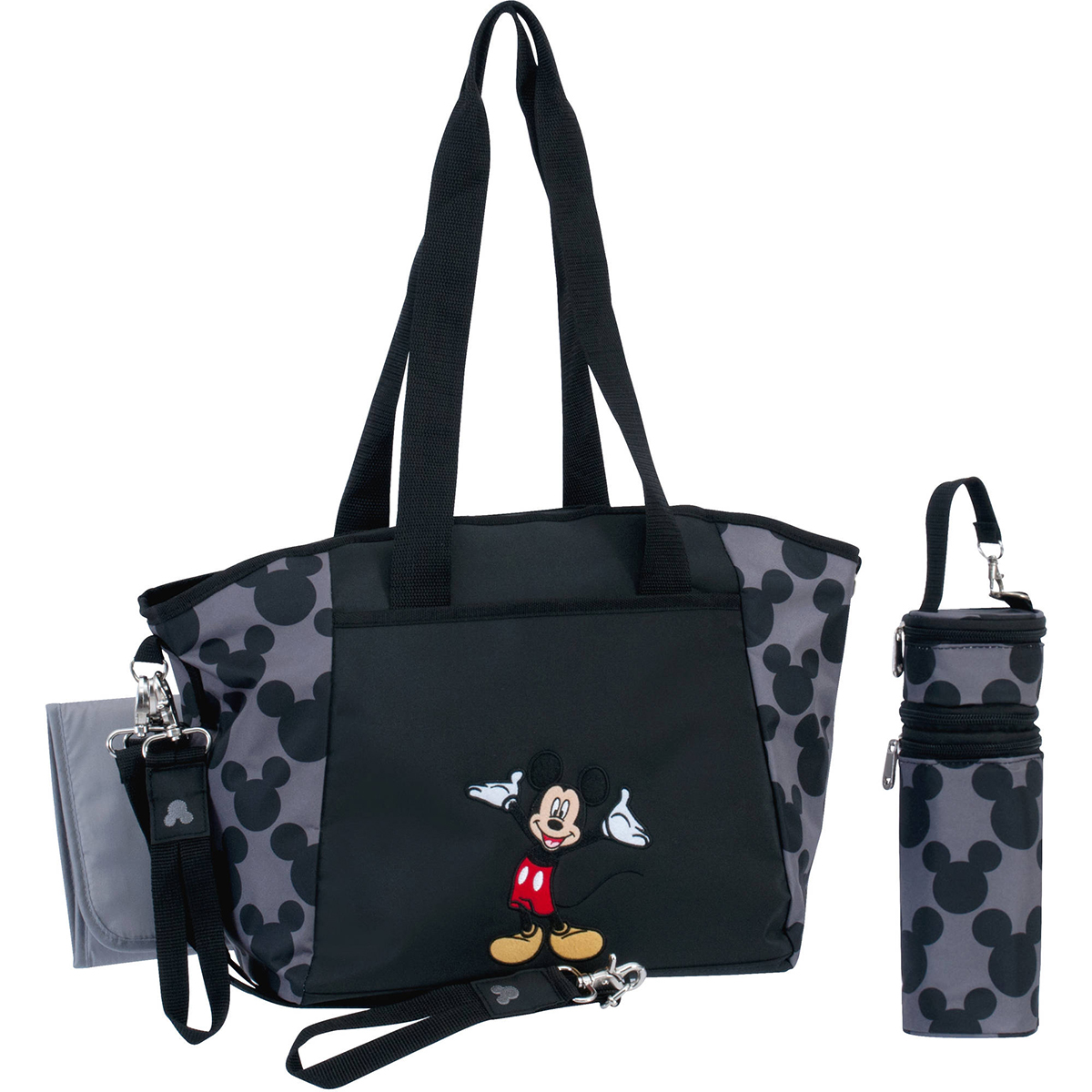 Disney Baby Mickey Mouse Diaper Bag 5 in 1 Bottle Pacifier Holder ...