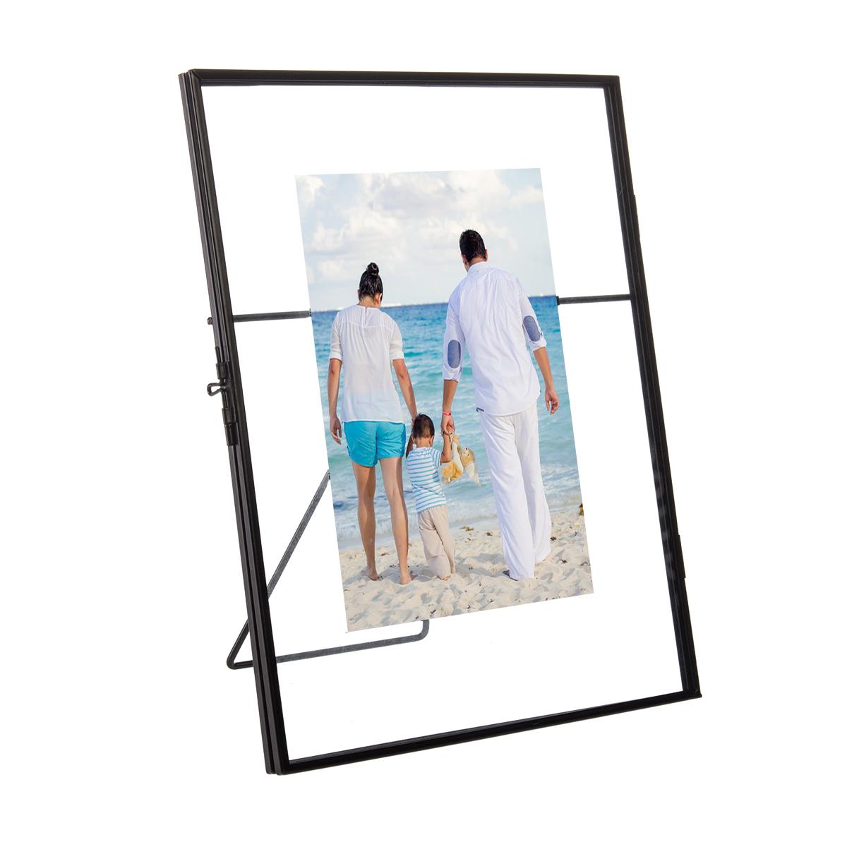 2pk floating metallic picture frames free standing glass for 5x7 2pk floating metallic picture frames free standing glass jeuxipadfo Image collections
