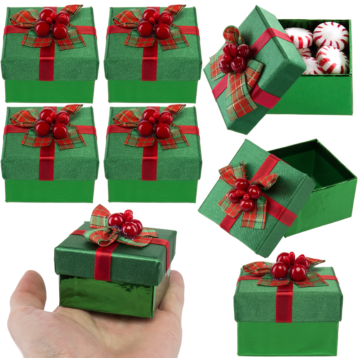 picture 2 of 10 - Decorative Christmas Gift Boxes With Lids