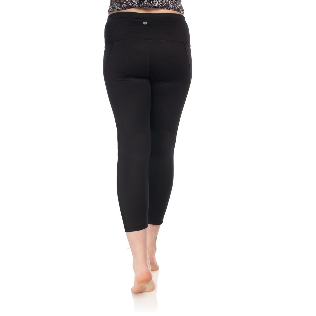 7-8-Length-High-Waist-Moisture-Wicking-UPF-50-Leggings-Run-Gym-Yoga-Pants-Mesh thumbnail 3