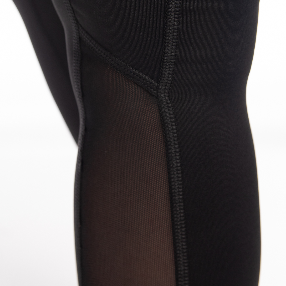 7-8-Length-High-Waist-Moisture-Wicking-UPF-50-Leggings-Run-Gym-Yoga-Pants-Mesh thumbnail 5