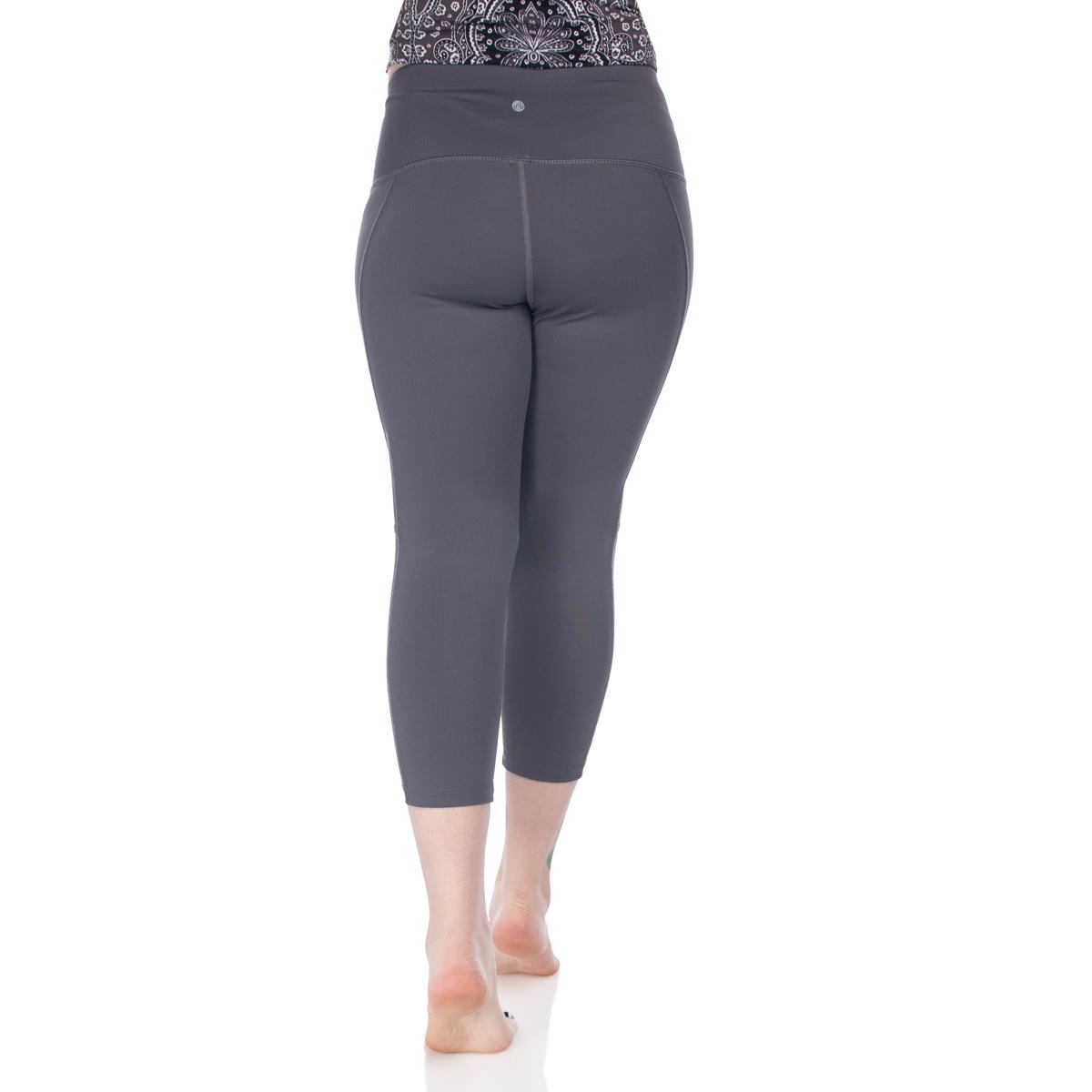 7-8-Length-High-Waist-Moisture-Wicking-UPF-50-Leggings-Run-Gym-Yoga-Pants-Mesh thumbnail 9
