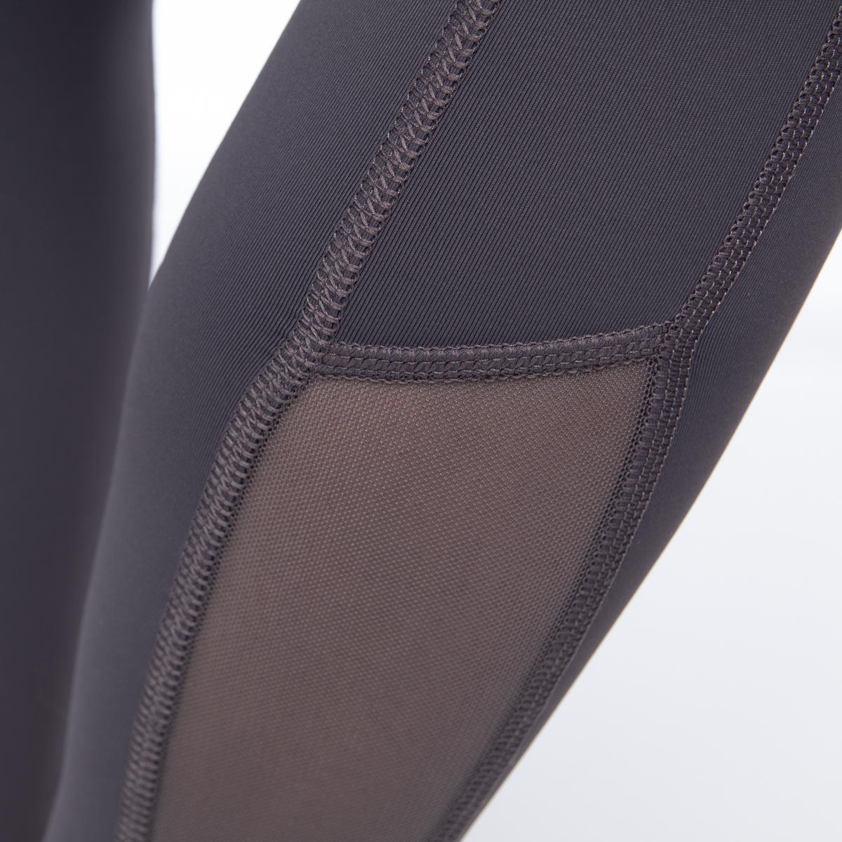 7-8-Length-High-Waist-Moisture-Wicking-UPF-50-Leggings-Run-Gym-Yoga-Pants-Mesh thumbnail 11