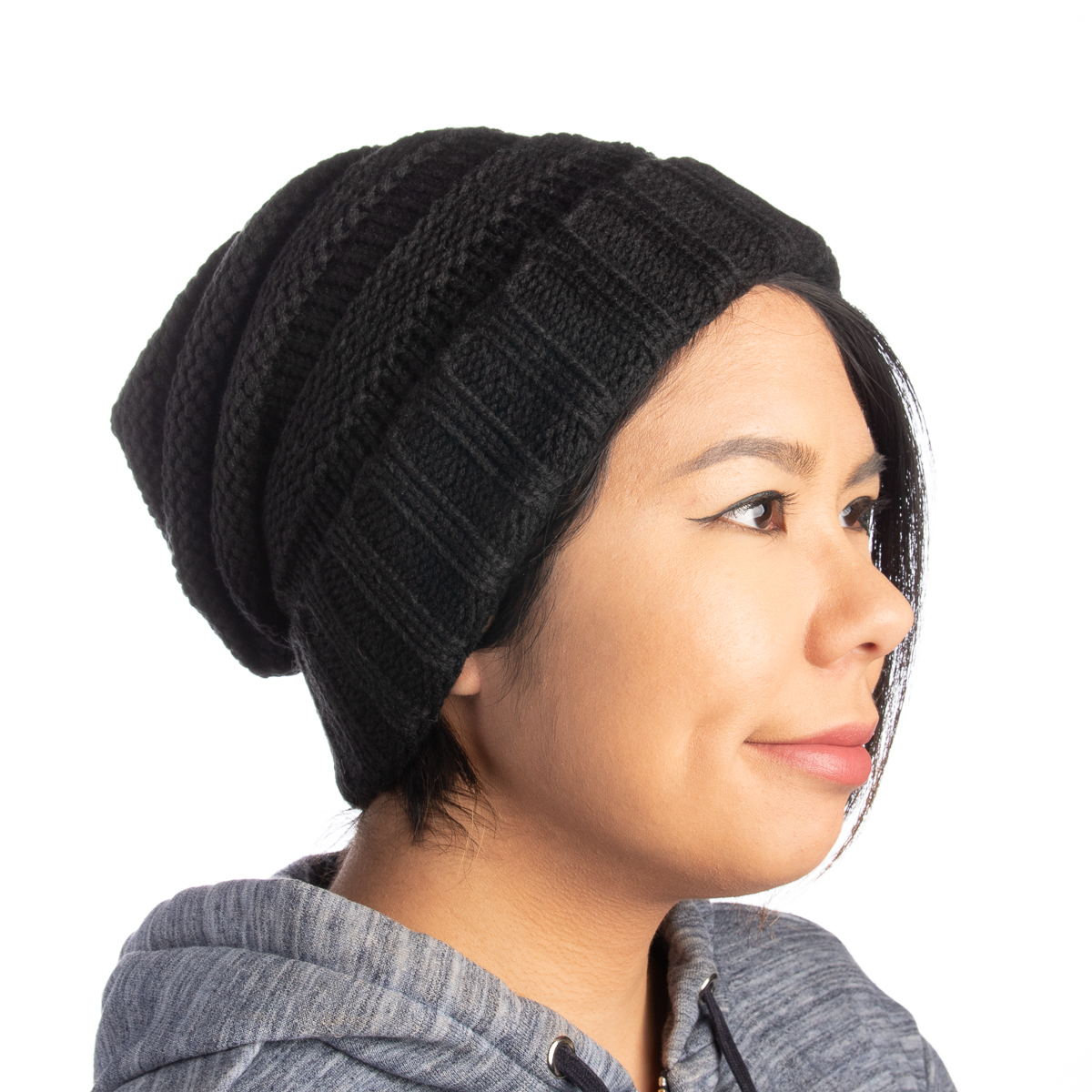 Womens-Slouchy-Ribbed-Knit-Chunky-Beanie-Winter-Hat-Warm-Cute-Lightweight-Chic thumbnail 12
