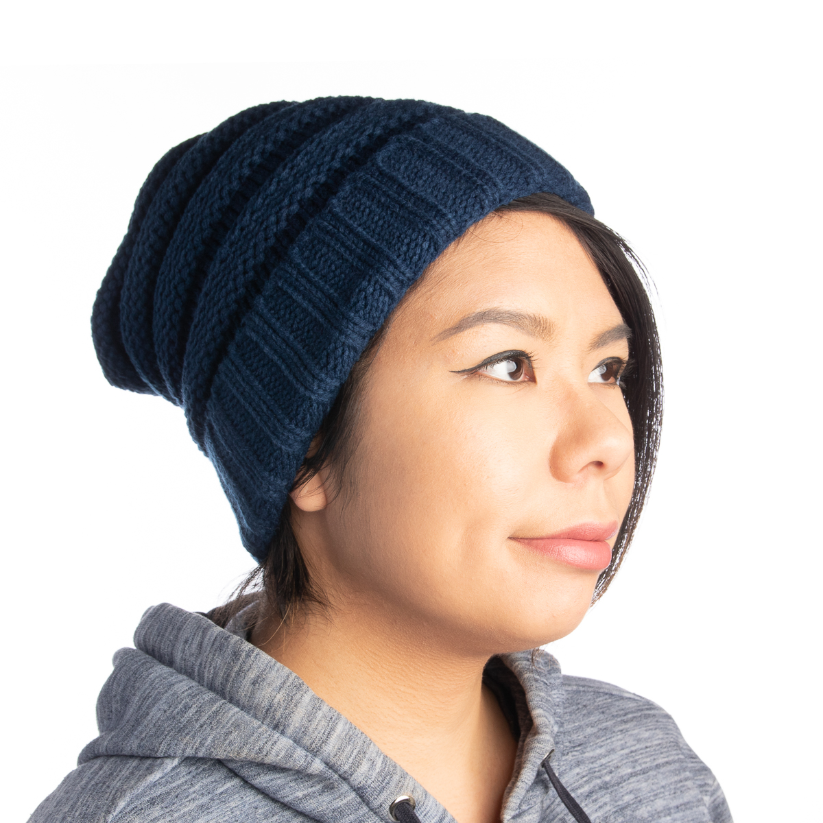 Womens-Slouchy-Ribbed-Knit-Chunky-Beanie-Winter-Hat-Warm-Cute-Lightweight-Chic thumbnail 16