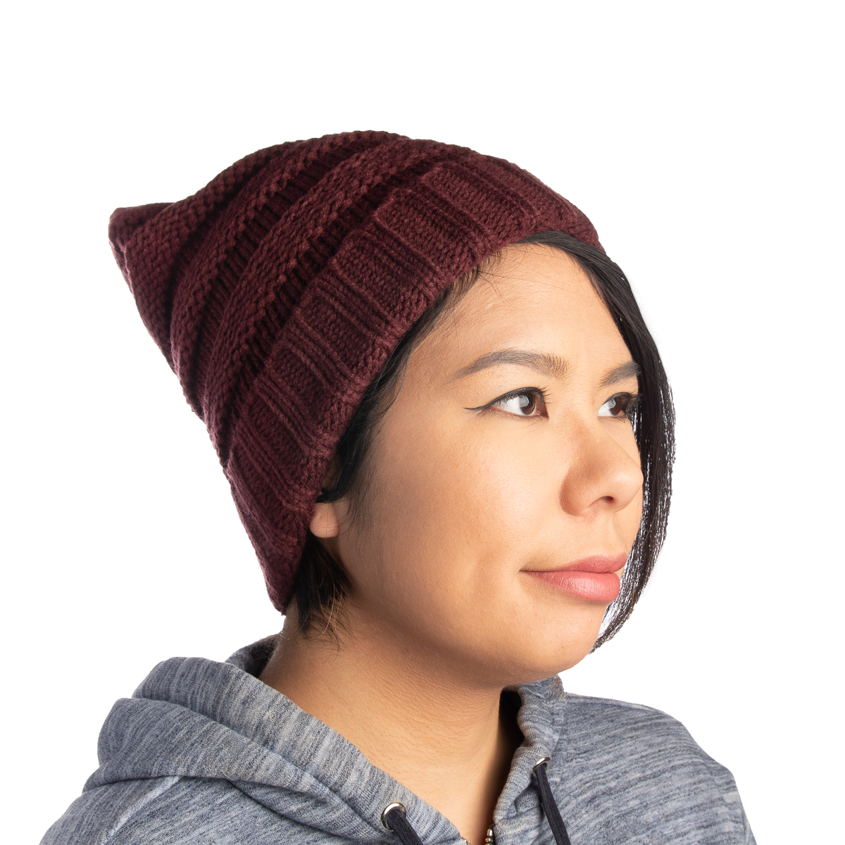 Womens-Slouchy-Ribbed-Knit-Chunky-Beanie-Winter-Hat-Warm-Cute-Lightweight-Chic thumbnail 20