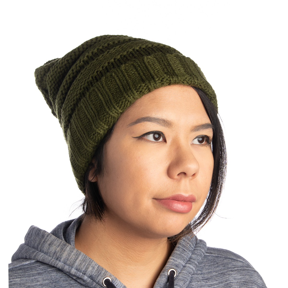 Womens-Slouchy-Ribbed-Knit-Chunky-Beanie-Winter-Hat-Warm-Cute-Lightweight-Chic thumbnail 32