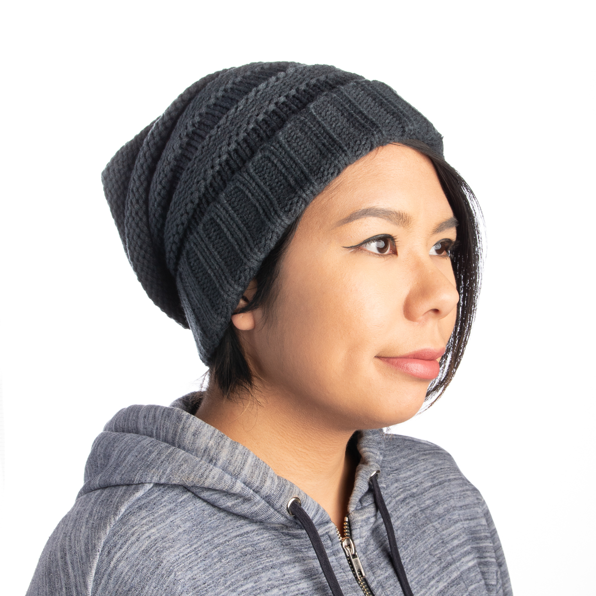 Womens-Slouchy-Ribbed-Knit-Chunky-Beanie-Winter-Hat-Warm-Cute-Lightweight-Chic thumbnail 28