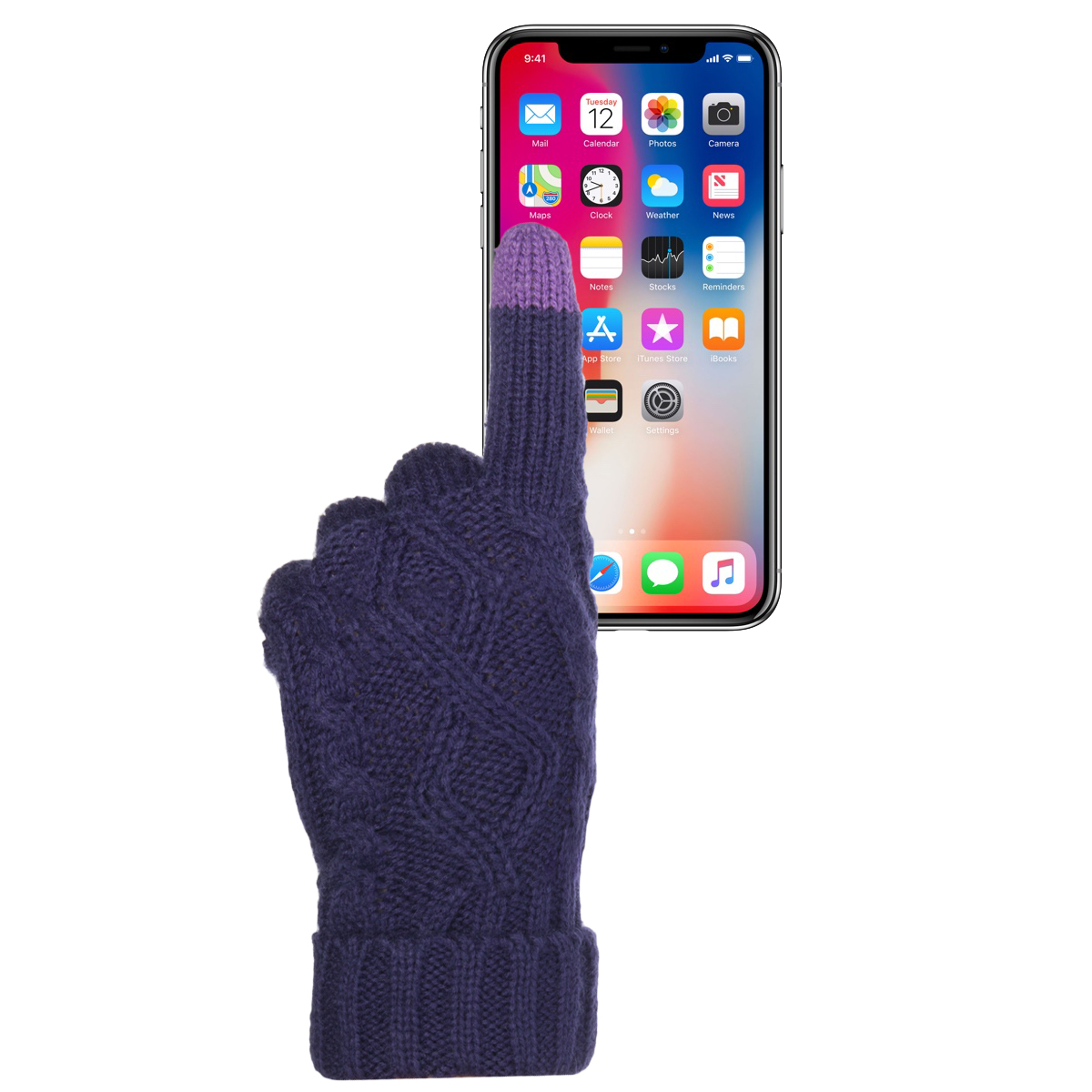 Warm Cute Texting Gloves Touchscreen Gloves Knit Gloves Winter ...
