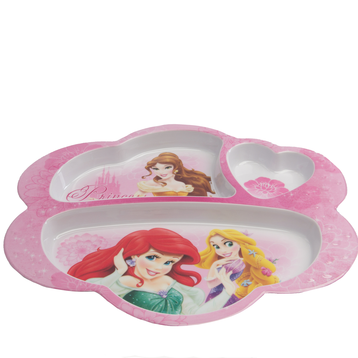 Zak 3pk Character Plastic 3 Section Divided Party Plates For Kids