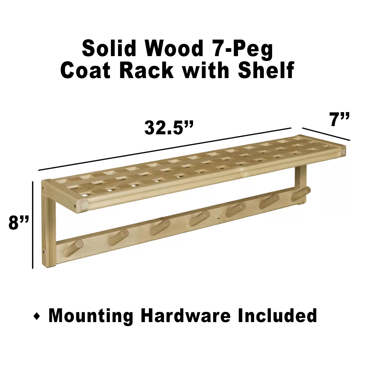 mounted at for hook racks stands pl product organization display storage com espresso lowes reviews shop with rack coat wall hooks shelf