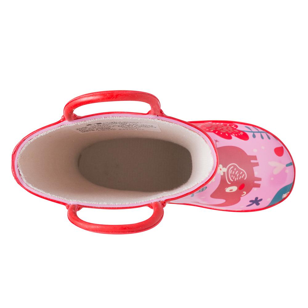 Oakiwear-Waterproof-Kids-Rubber-Rain-Boots-Boy-amp-Girl-Toddler-Shoes-With-Handles thumbnail 14