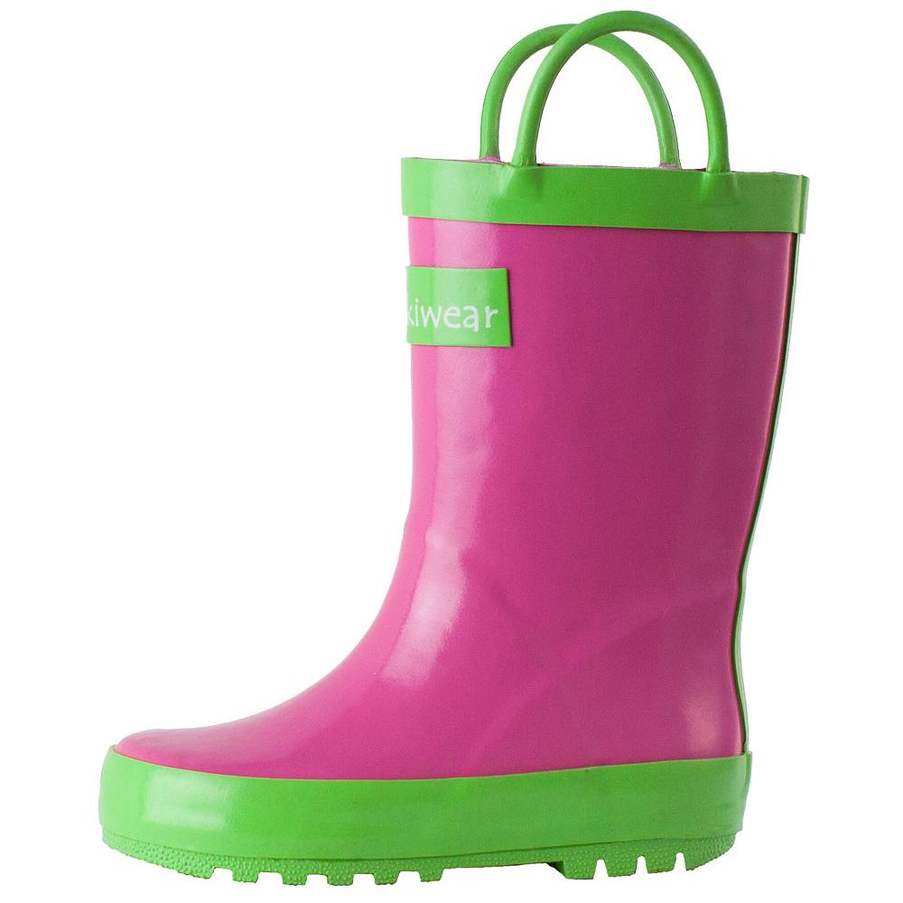 Oakiwear-Waterproof-Kids-Rubber-Rain-Boots-Boy-amp-Girl-Toddler-Shoes-With-Handles thumbnail 25