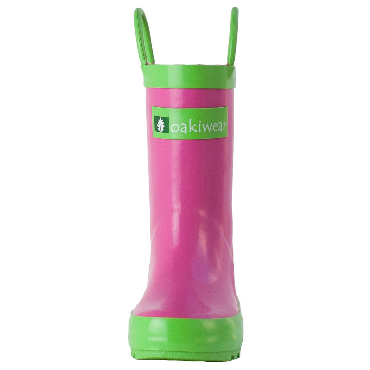 Oakiwear-Waterproof-Kids-Rubber-Rain-Boots-Boy-amp-Girl-Toddler-Shoes-With-Handles thumbnail 26