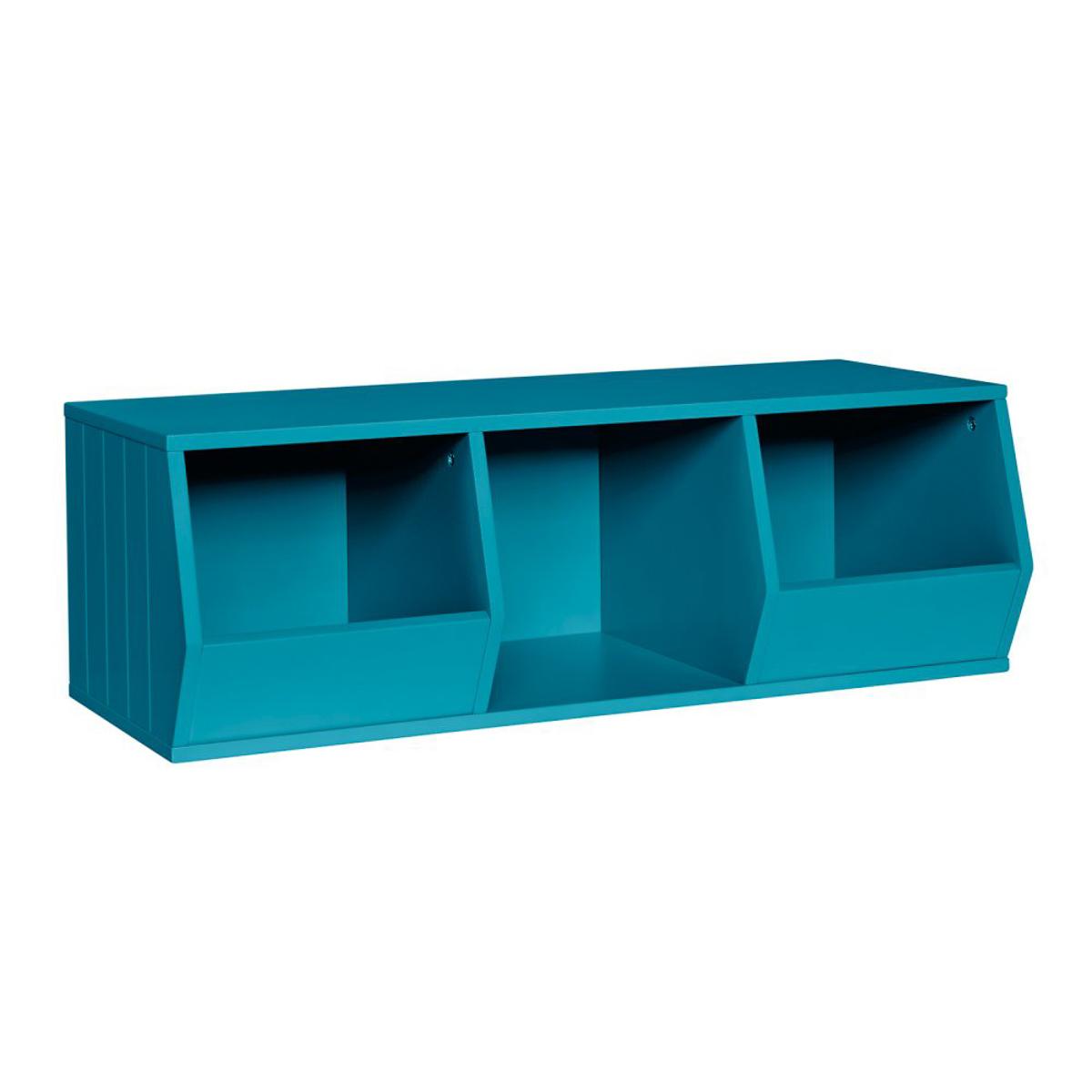 Riverridge 2-Bin 1-Cubby Storage Stacker Organizer Container For ...
