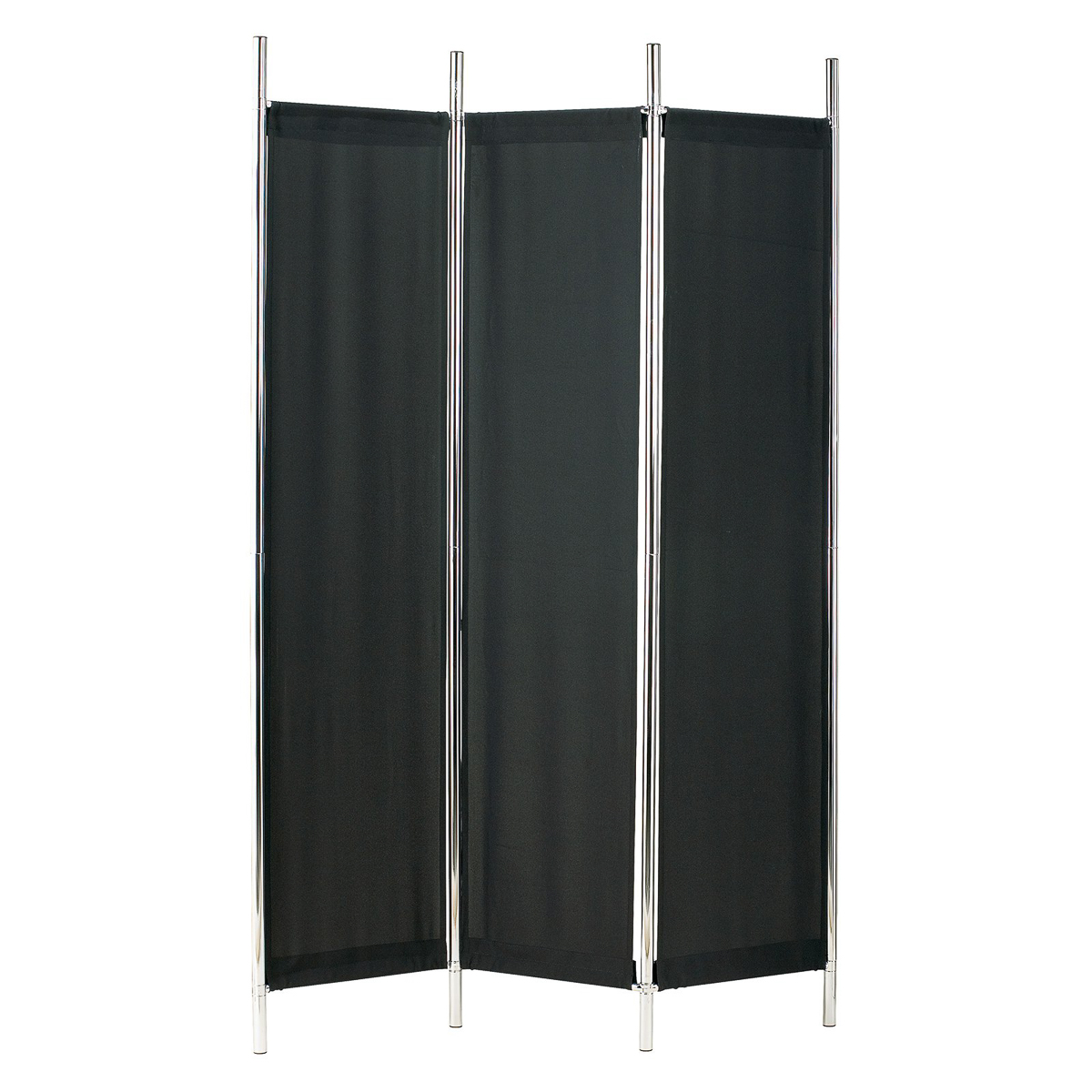 adesso rita 6ft tall folding room divider 3 panel fabric standing privacy screen ebay. Black Bedroom Furniture Sets. Home Design Ideas