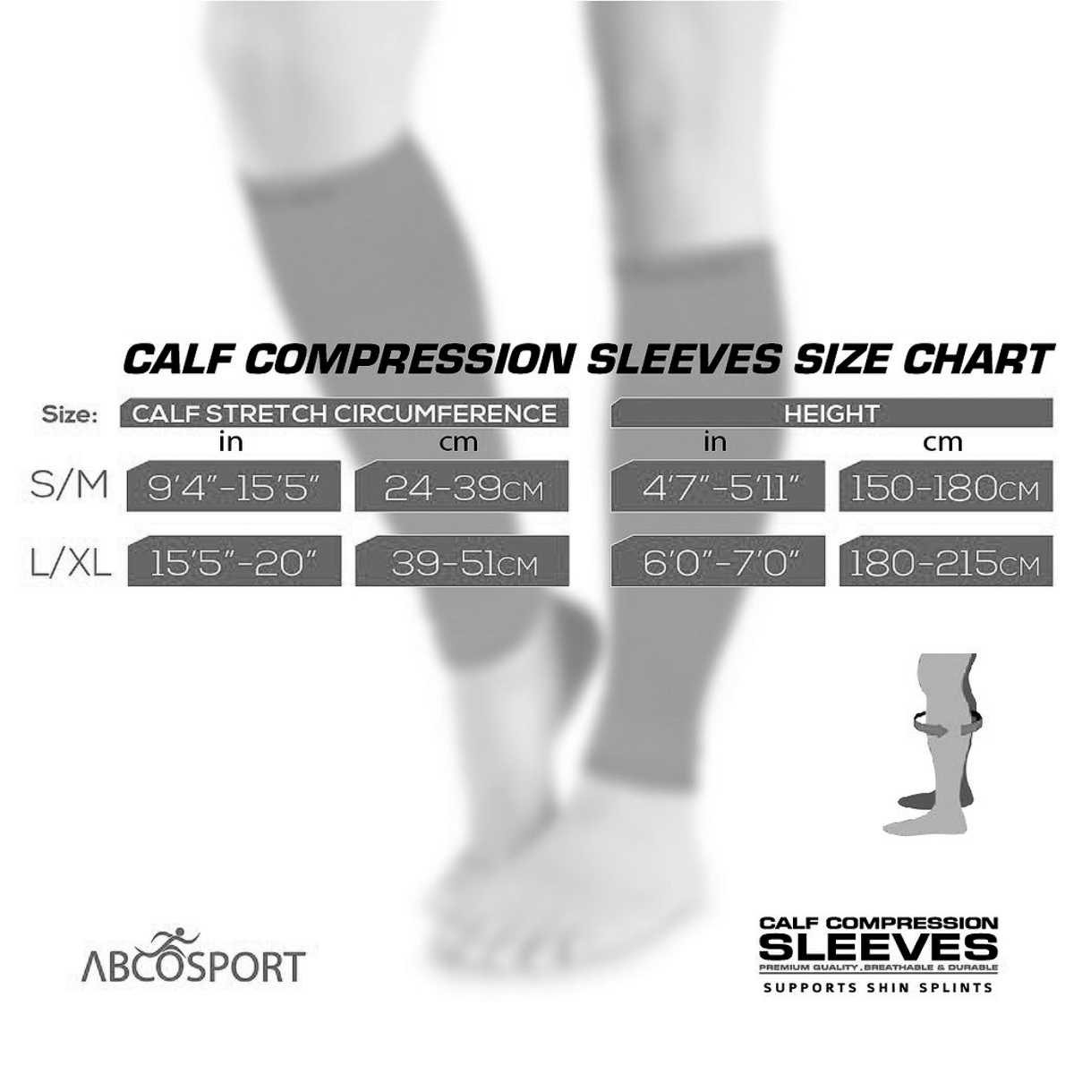 3pk-Calves-Graduated-Compression-Sleeves-For-Leg-Shin-Splints-Basketball-Running thumbnail 10