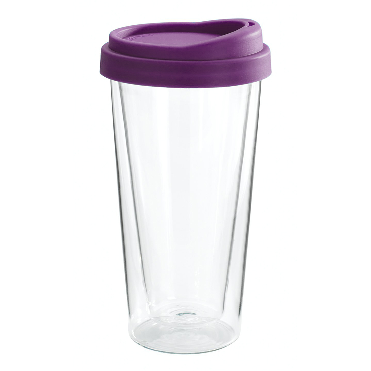 Double Walled Glass Travel Mug Clear
