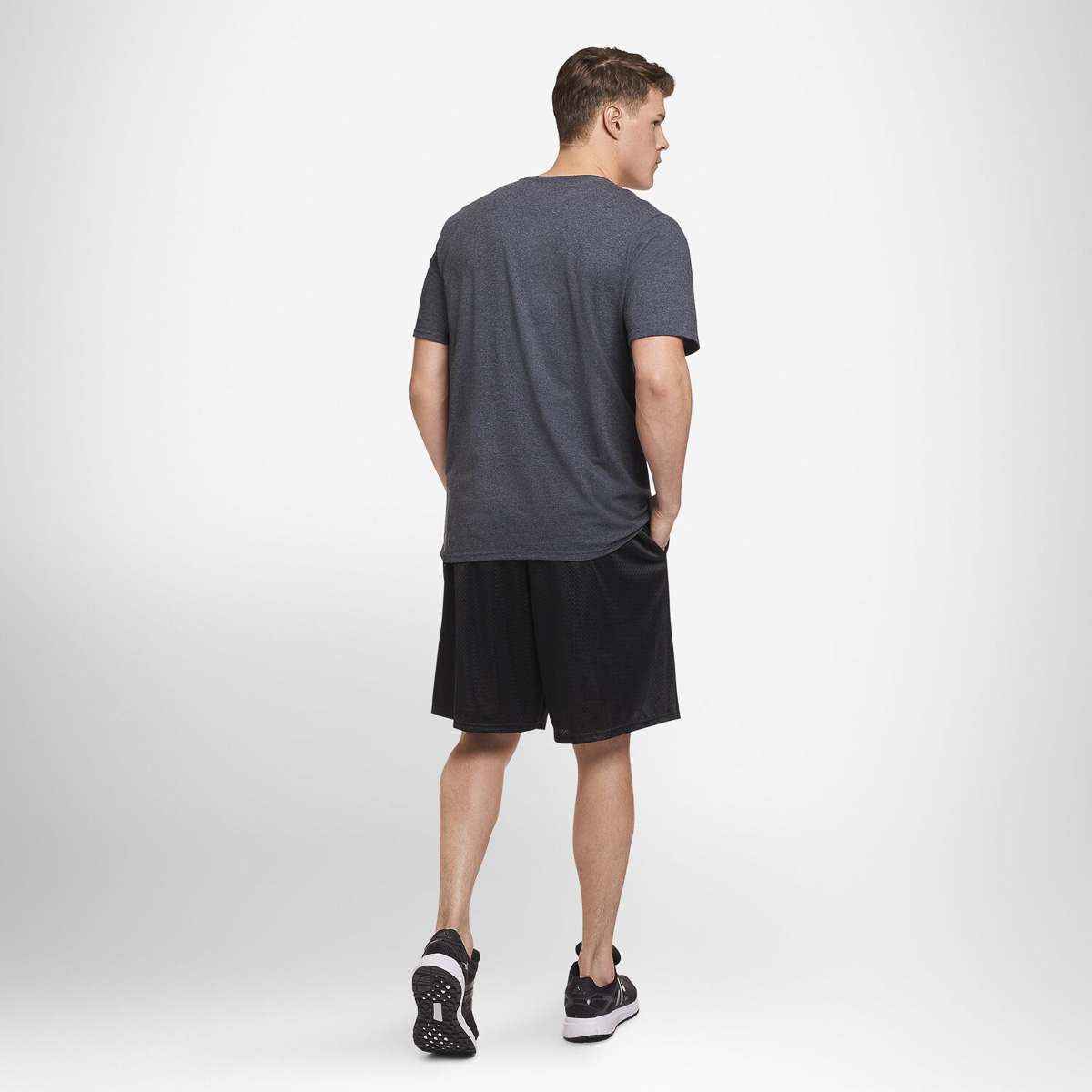 thumbnail 3 - Russell-Athletic-Mens-Shorts-With-Pockets-Mesh-Moisture-Wicking-Gym-Activewear